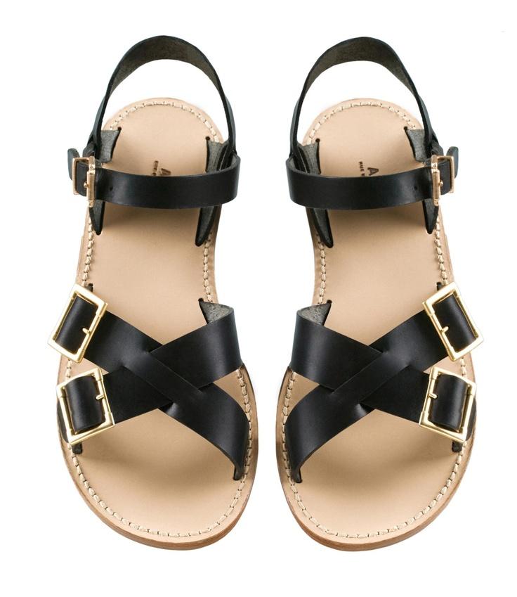 Femme, Noir, Sandales Plates Noires, Chaussures Noires Appartements,  Chaussures Sandales Plates, Chaussures De Pompe, Escarpins, Femmes Noires,  ...