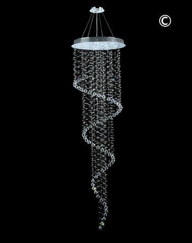 Contemporary Spiral LED Chandelier - W:70cm H:240cm - Designer Chandelier
