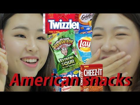 LOL: Korean Girls Taste American Snacks #snacks #food #america #korea #funny