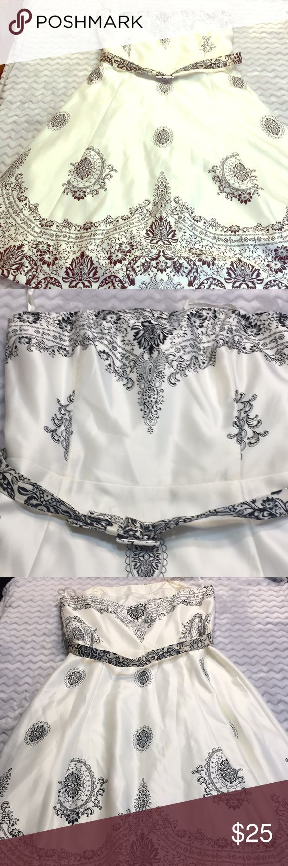 White House Black Market Strapless Dress Sz 6 White House Black Market Strapless…