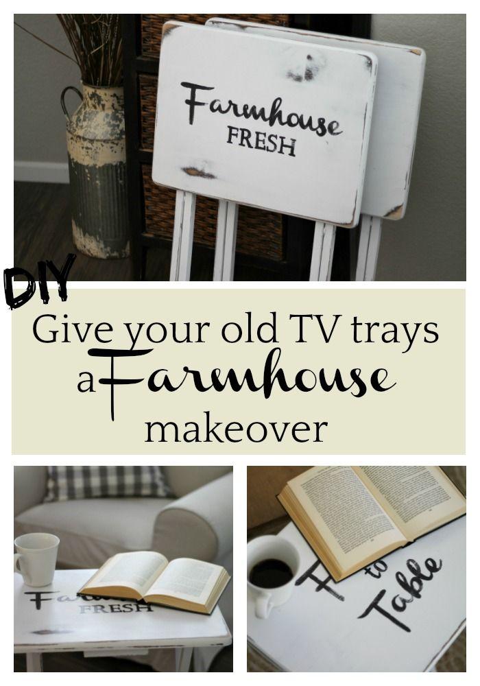 Farmhouse TV Tray makeover | TV trays | Farmhouse style | TV tray ideas | Repurposed