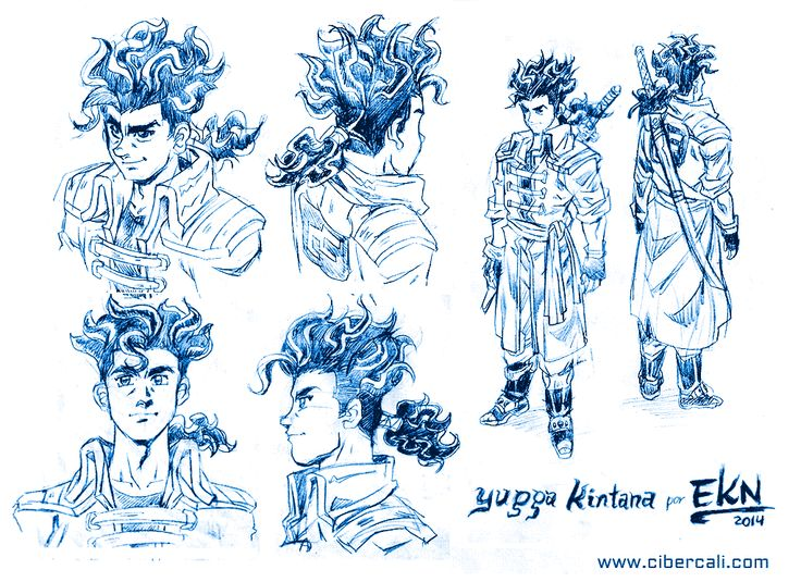 Dibujo de Yugga Kintana (Diseño de Personaje) por EKN   EKN: Mis Dibujos de Anime Manga