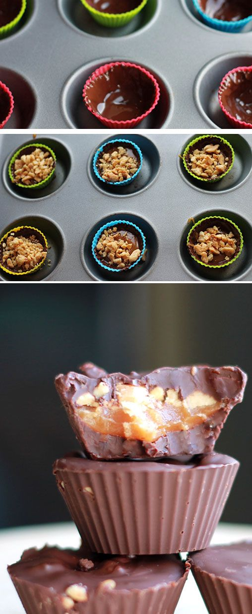 HOMEMADE SNICKER CUPS - Erren's Kitchen #delicious #recipe #Nomnom #chocolate