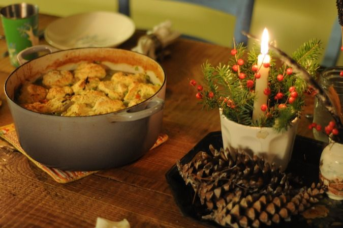 chicken stew with rosemary dumplings