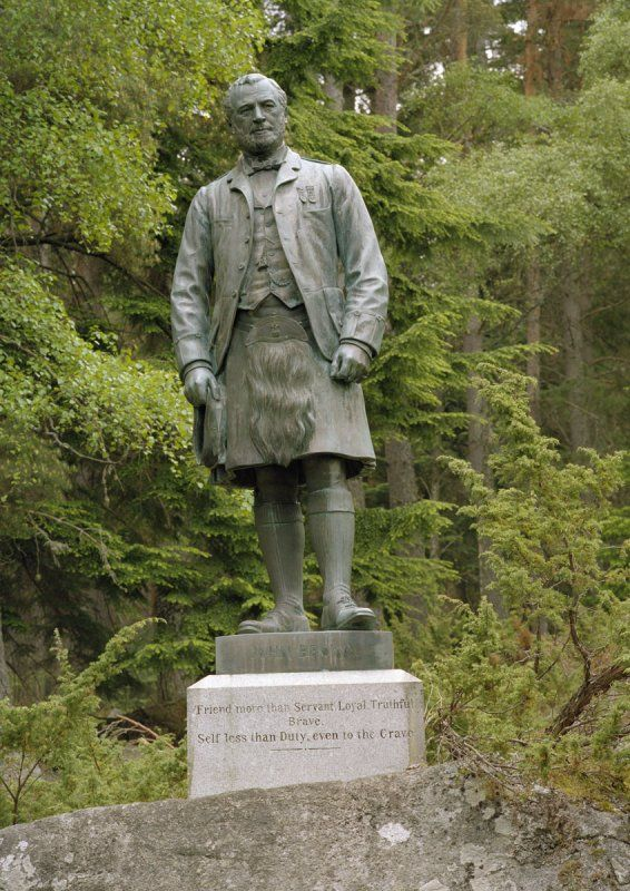 Statue commissioned by Queen Victoria of John Brown at Balmoral Castle
