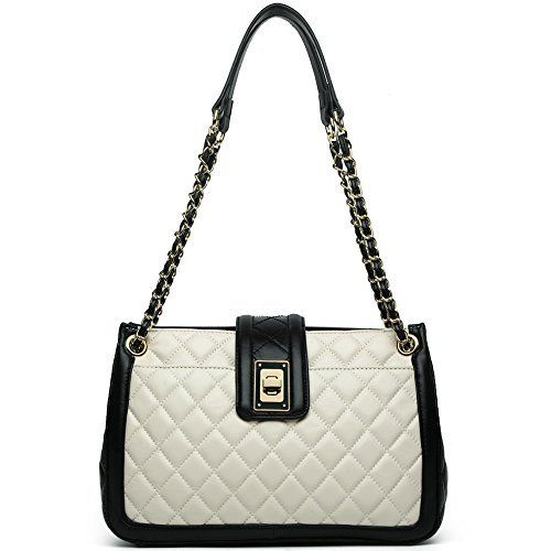 New Trending Make Up Bags: ANA LUBLIN Women Lamb Leather Fashion Handbag Quilting Lady Purse Crossbody Shoulder Bag White. ANA LUBLIN Women Lamb Leather Fashion Handbag Quilting Lady Purse Crossbody Shoulder Bag White  Special Offer: $59.96  100 Reviews About ANA LUBLIN Our brand is focusing on offering top grade classical fashion genuine leather handbags. We are the manufacturer which is specialized in...