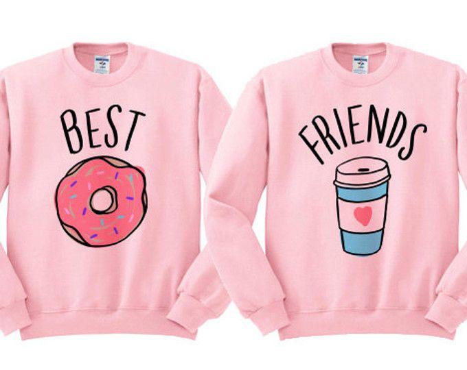 Best Friends Donut and Coffee Duo Wideneck by TeesAndTankYouShop