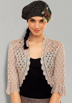 MyPicot | free pattern for this crochet bolero