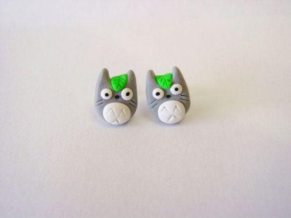 Mon voisin Totoro Earrings par MajesticEncounters sur Etsy