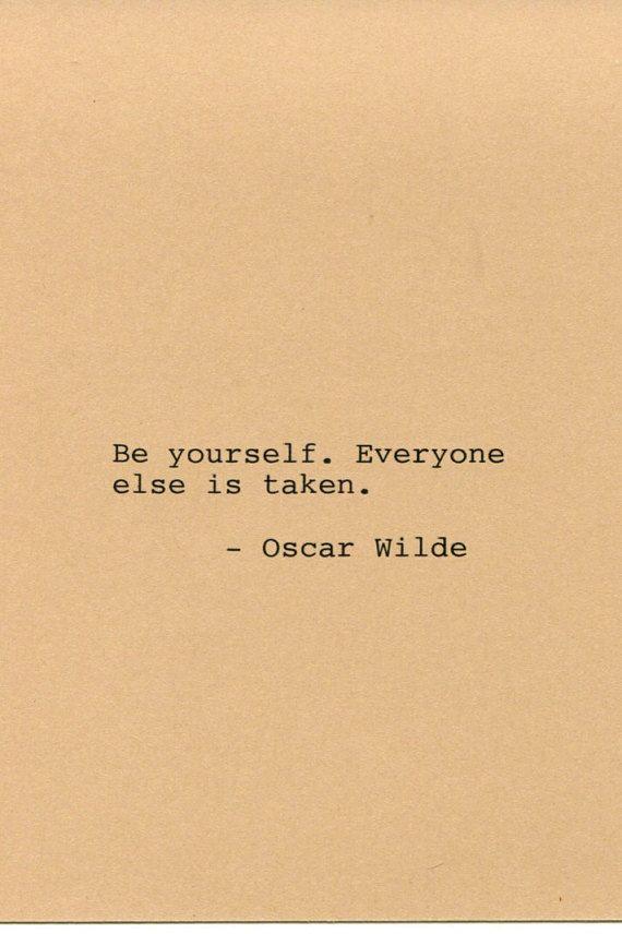 Oscar Wilde Quote Made on Typewriter Quote by FlightOfFancyPrints