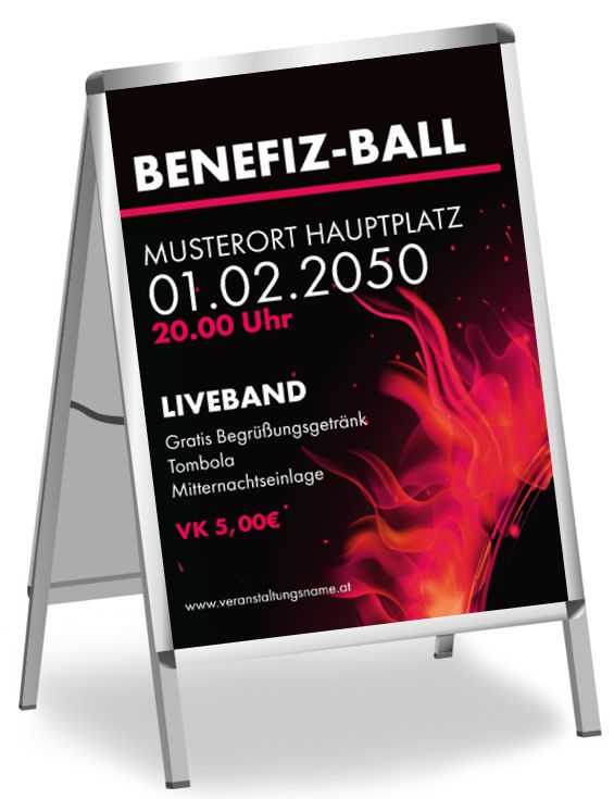 Gestalte dein eigenes Poster oder Plakat für deine Veranstaltung und falle auf! #onlinedruckerei #onlineprintxxl #durckerei #benefiz #ball #veranstaltung