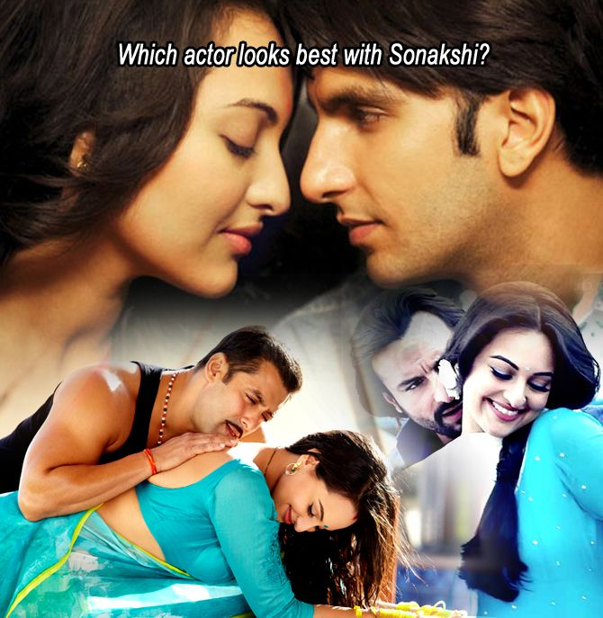 Which actor looks best with sonakshi?
