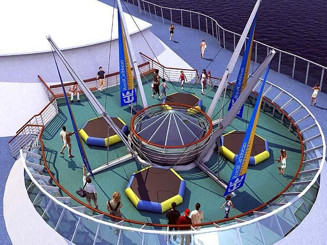 Trampolines on the Enchantment of the Seas