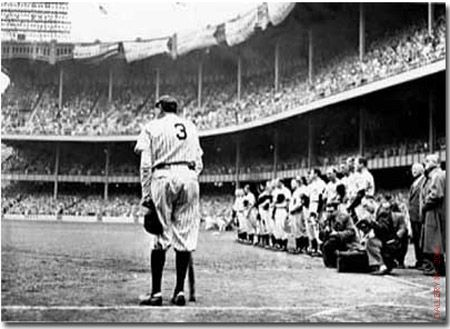 Babe Ruth Retires No. 3  Yankee Stadium, NY 1948