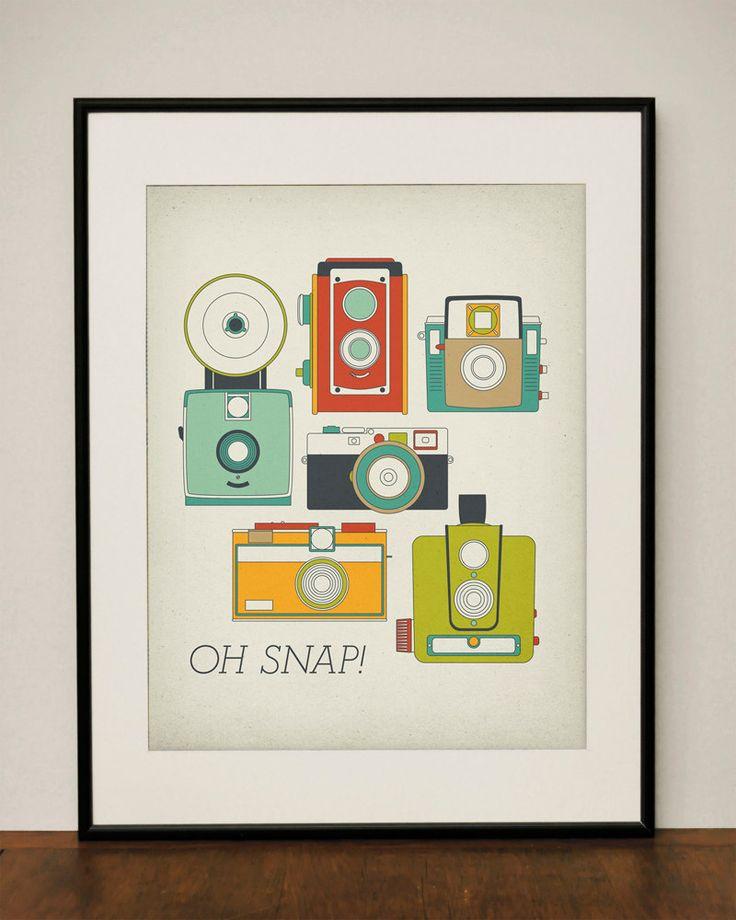 Oh Snap!11X14 Art, Ideas, Vintage Cameras, Art Prints, Anne Arbors, Cameras Art, Retro Vintage, Snap Retro, Old Cameras