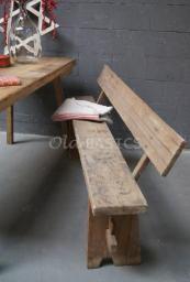 Banken en stoelen - Landelijke klepbanken houten banken stoelen krukjes eetkamerstoelen - Old-BASICS - Webwinkel