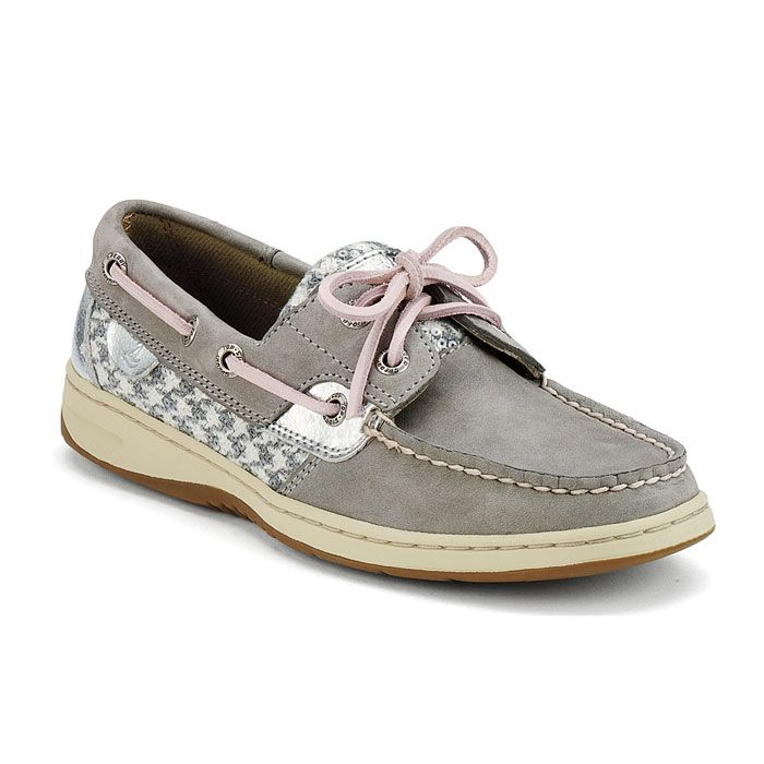 Women's Bluefish boat shoe in charcoal/grey houndstooth. Find this Pin and  more on Sperry ...