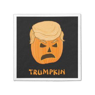 Funny Donald Trumpkin Pumpkin Jack-o-lantern Paper Napkin
