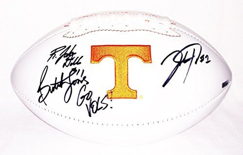 3X AUTOGRAPHED Josh Dobbs / Jalen Hurd / Coach Butch Jones 2016 TENNESSEE VOLUNTEERS College Team Signed Collectible NCAA Logo Football with COA