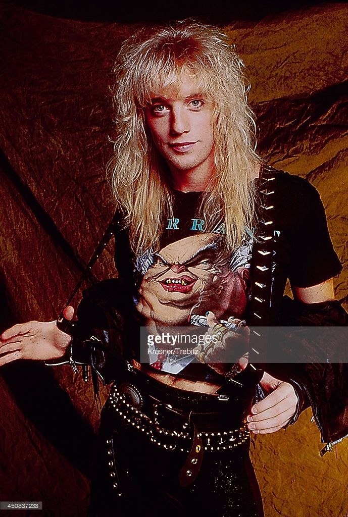 Singer Jani Lane of the rock band Warrant, circa 1980-1985.
