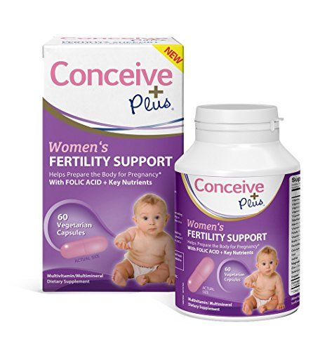 Conceive Plus Women's Fertility Support 60 Caps: Multivitamin Multimineral Dietary Supplement For Women To Get Pregnant Fertility Pills To Boost Sexual Health, Fertility Ovulation, 30 Day Supply  A POTENT HEALTH FOOD SUPPLEMENT: Treat yourself to the overall health and wellness of a upgraded dietary supplement formula! Folic Acid and a powerful blend of key nutrients help prepare your body for pregnancy. Relieve stress, boost your libido and sexual/ reproductive health, regulate your c...