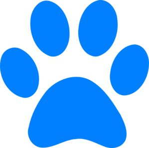 Blues Clues Paw -- this will be my tattoo for two reasons. 1 for my dogs who have passed and 2 Sweetpea wore a blue's clues collar for years.