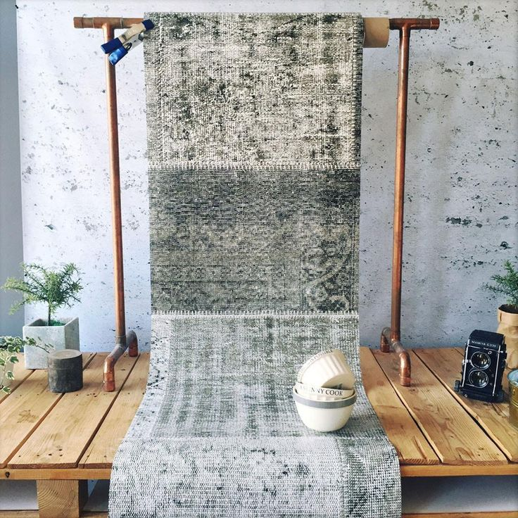 Patchwork Neutral Wallpaper by WYNIL. The timeless feel of weaves in your home or office. Super easy installation, worldwide shipping :)