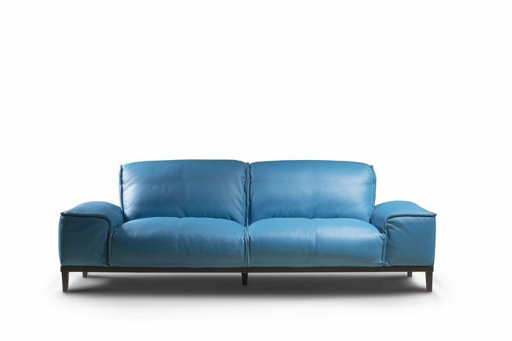 Sofa Manchester  - wykonana ze skóry naturalnej, możliwość zamówienia w wariancie 3 osobowym ( 222x95x80) i 2 osobowym ( 192x95x80)