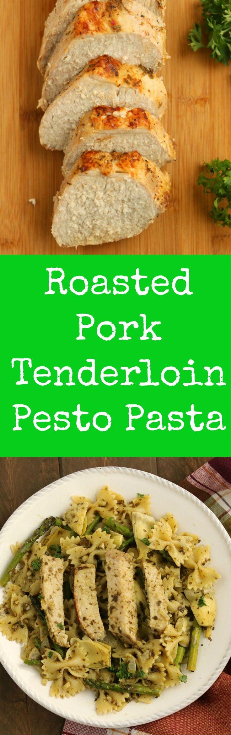 pork tenderloin pesto pasta #realflavorrealfast #ad