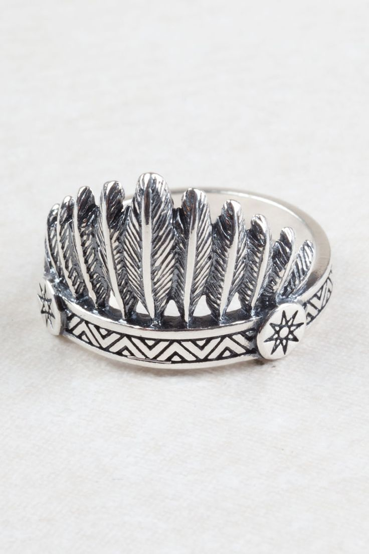 Indian Headdress Ring. Silver jewellery at Tree of Life