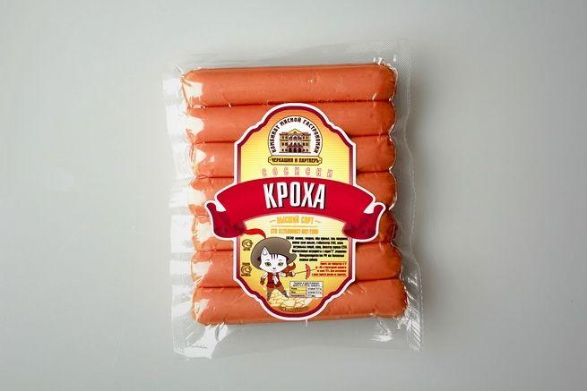 "Сосиски ""Кроха"" http://zg-brand.ru/portfolio/cherkashin_i_partner/ Разработка упаковки http://zg-brand.ru/services/packing/"