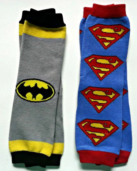 Amazon.com: LuvBugBaby 2 Pack Leg Warmers for Infants, Toddlers and Children (Superhero (Batman + Superman)): Clothing