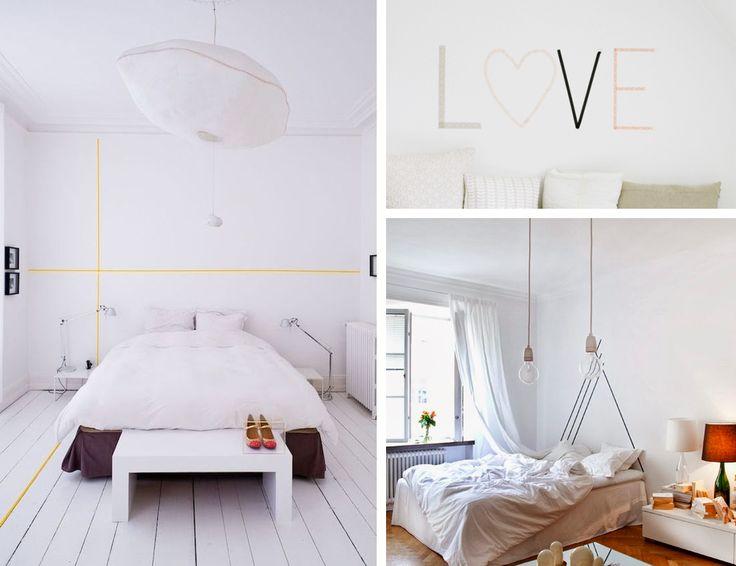 t te de lit do it yourself avec du masking tape tape art for home pinterest tapas tete de. Black Bedroom Furniture Sets. Home Design Ideas