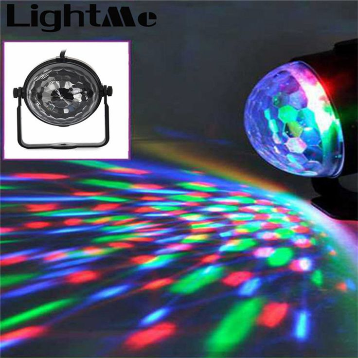 Neue Beliebte Mini RGB LED Kristall Magic Ball Bühneneffektbeleuchtung lampe Party Disco Club DJ Bar Licht Zeigen 100-240 V EU UNS stecker