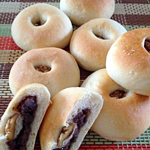 つぶあん、たくさん作りました(#^.^#) 朝から、あんパン、餅つき、桜餅‼ - 8件のもぐもぐ - あんパン(*^^*) by みっくU^ェ^U