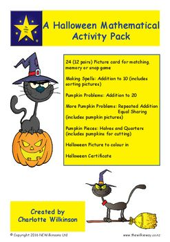 A Wilkie Way themed activity pack for Halloween Mathematics featuring open ended…