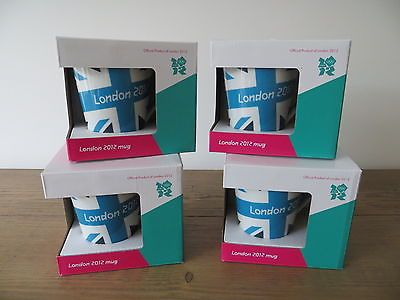 4 x #official london 2012 olympics blue #union jack team gb mug set #boxed new bn,  View more on the LINK: 	http://www.zeppy.io/product/gb/2/331912255281/