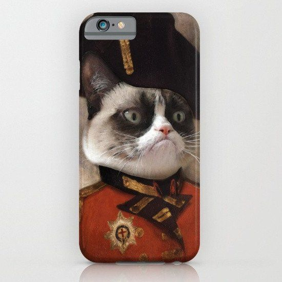 Angry Cat Grumpy - Angry cat. Grumpy General Cat iphone case, smartphone