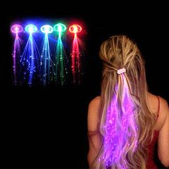 $12 for a Set of 5 LED Light Up Hair Extensions | DrGrab