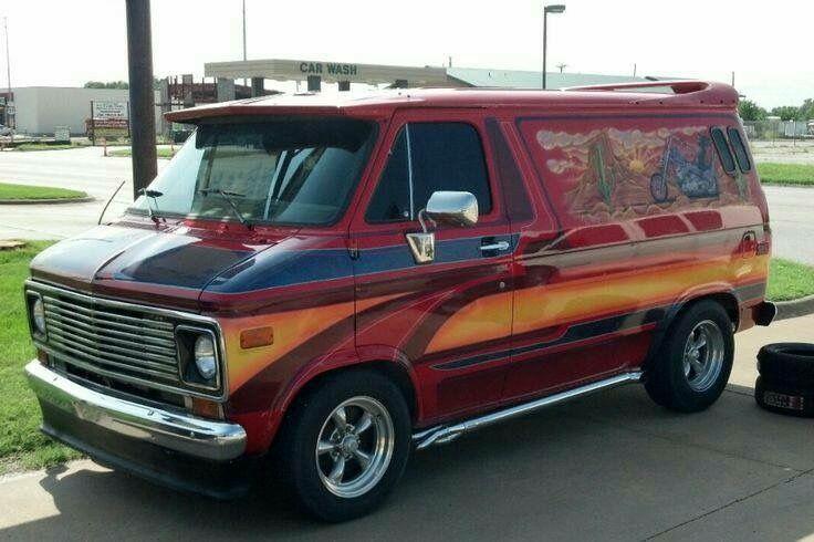 Custom 70's custom van