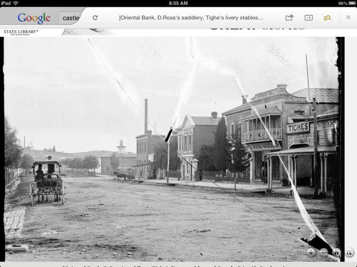 Castlemaine Australia 1800s Oriental bank Barker st
