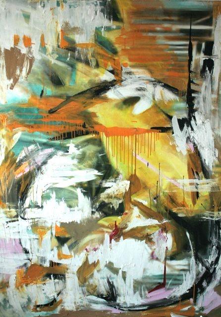 """Daniel Thalheim, """"Last sunday"""", 2013, Acryl & Oil on Canvas, 140 x 200 cm"""