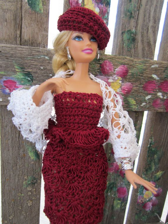 Crochet Barbie : crochet Barbie clothes Bear Clothes Pinterest Crochet barbie ...