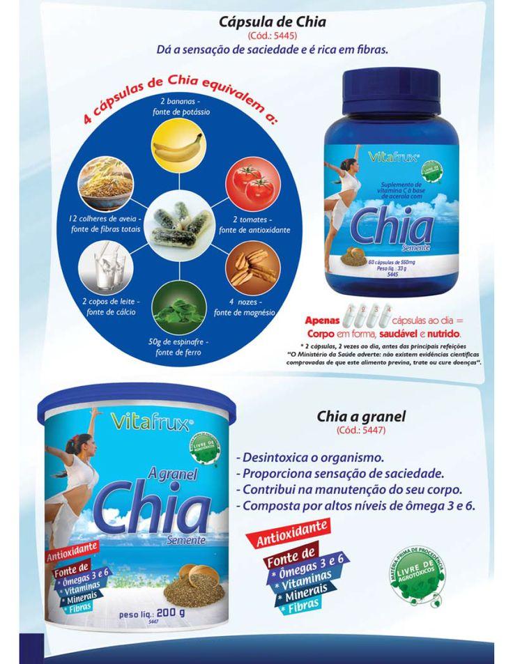 Cápsula de Chia  www.clicnatural.com.br