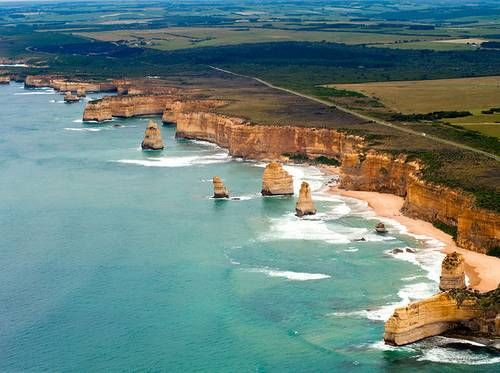 Great Ocean Road in Victoria | Australia: Stretching along the southeast coast of Australia, this scenic road features miles of stunning beaches, cliffs and waterfalls. Take a stroll and make a pit stop at the awe-inspiring 12 Apostles.