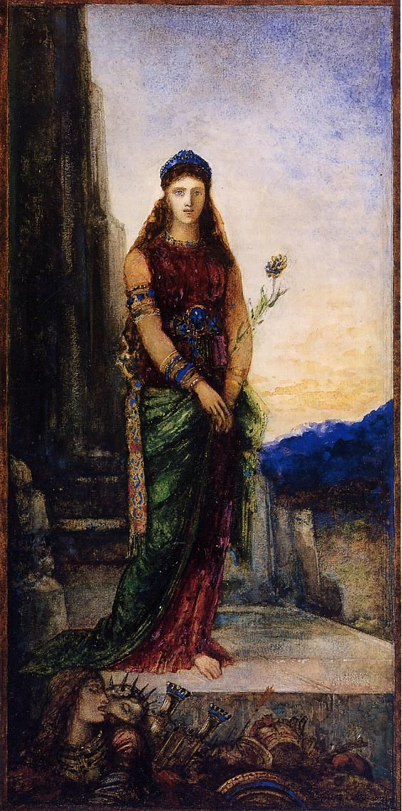 Helen on the Walls of Troy - Gustave Moreau: