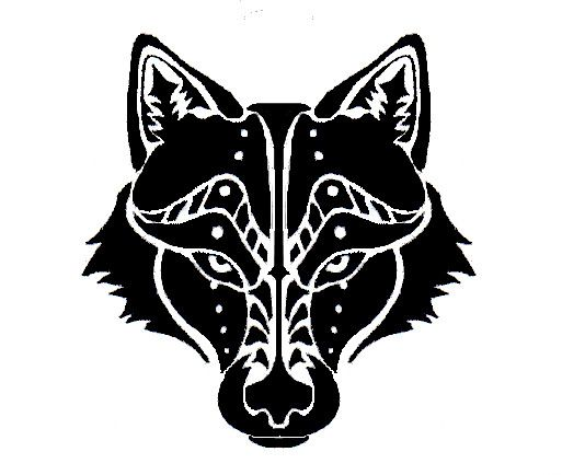 Wolf Head Tribal Tattoo by Canyx on DeviantArt