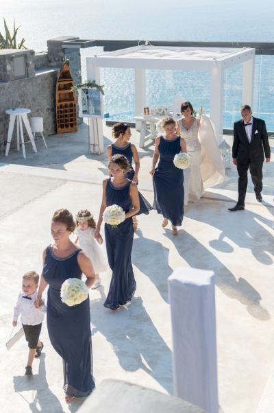 Vintage elegant  wedding at Cavo Ventus, Santorini  by Phosart Photography & Cinematography
