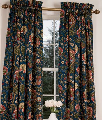 A Navy Background Gives This Classic Woodland Inspired Jacobean Floral A  Bolder, More Sophisticated
