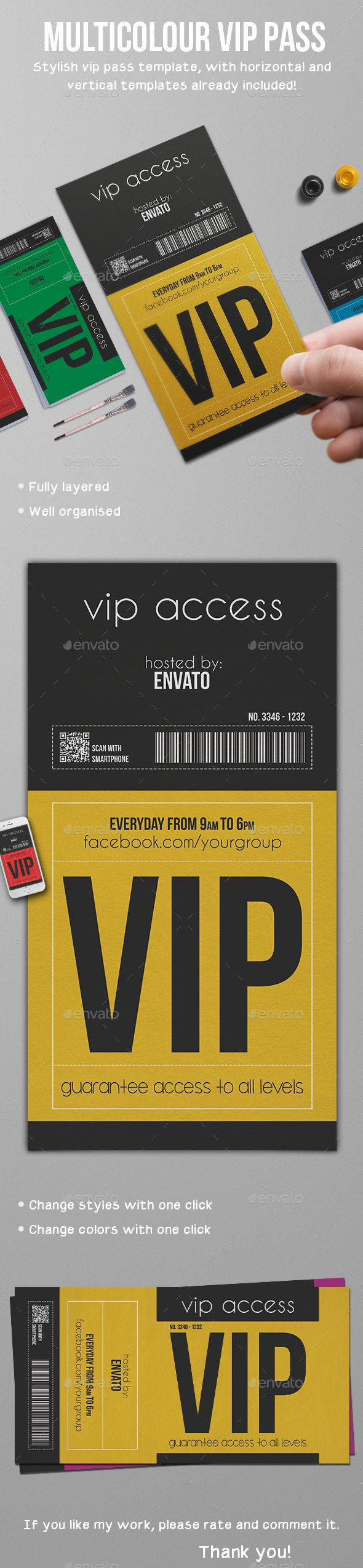 Multipurpose Vip Pass Card Template PSD. Download here: http://graphicriver.net/item/multipurpose-vip-pass/16252843?ref=ksioks
